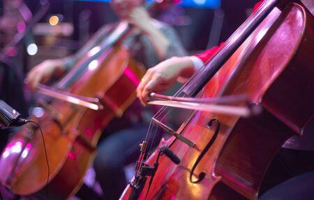 cello at a concert Imagens