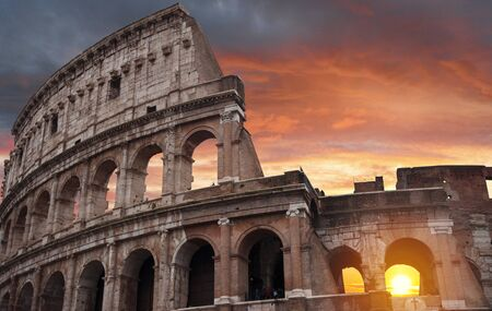 Coliseum. one of the grandest buildings of the ancient world Stock Photo