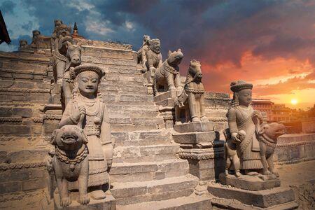 Temples of Durbar Square in Bhaktapur, Kathmandu valey, Nepal. Stock fotó