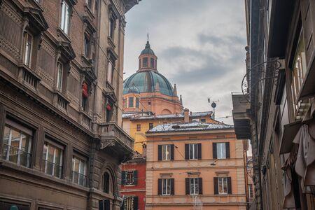 Piazza Maggiore in the historic center of Bologna, Italy Stockfoto