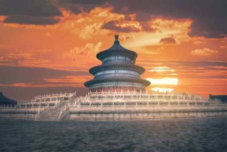 Temple of Heaven - temple and monastery complex in central Beijing