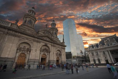 Plaza de las Armas square in Santiago, Chile Редакционное