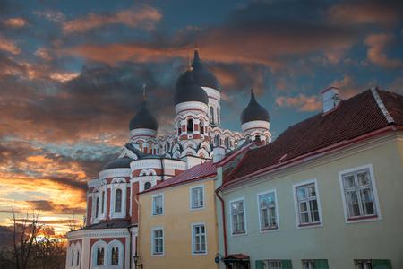 Alexander Nevsky Cathedral in Tallinn. Estonia. Europe 版權商用圖片 - 133425928