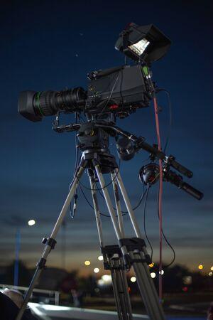 preparation for shooting a concert on television Reklamní fotografie