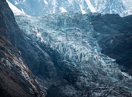 glacier in the mountains of the Caucasus. North Ossetia.