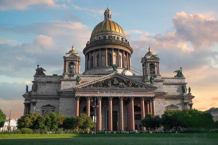Saint Isaac's Cathedral. The largest Orthodox church in St. Petersburg. Stock Photo