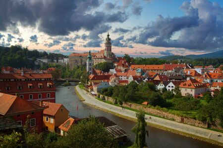 Cesky Krumlov. Beautiful Czech fabulous city