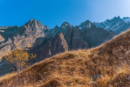 Autumn in the mountains of the Caucasus.