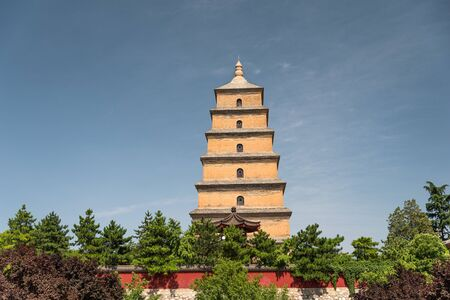 large pagoda of wild geese in Xi'an. The largest monument of Chinese architecture