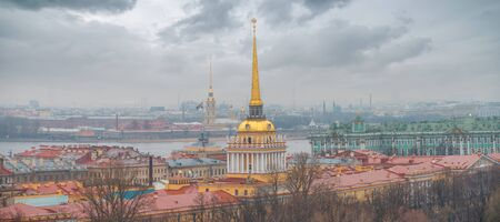 Admiralty in St. Petersburg. the Russian Federation