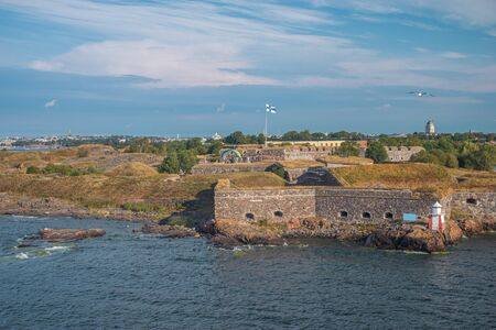 Scenic summer aerial view of Suomenlinna (Sveaborg) sea fortress in Helsinki, Finland Zdjęcie Seryjne