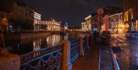 night city of St. Petersburg. The Russian Federation Imagens