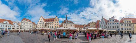 historic center of the old city of Tallinn. Estonia. Europe