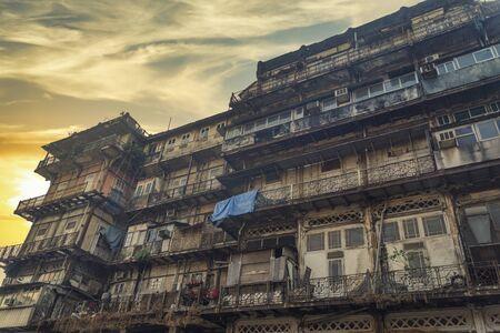 Mumbai, formerly Bombay - a city in the west of India, on the Arabian Sea coast. Maharashtra Civic Centre. slum