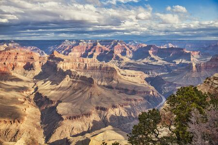 Grand Canyon aerial view. picturesque landscape of America Фото со стока