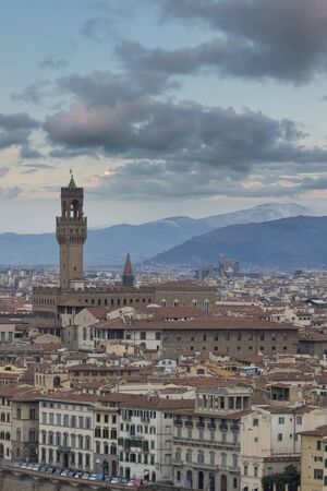 View of the old quarter of the city of Florence. Italy