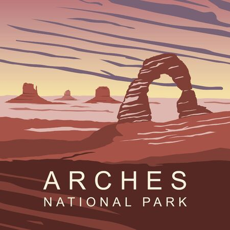 Arches National Park Ilustrace