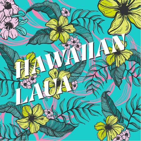 Hawaiian Laua Ilustrace
