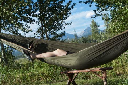 napping in hammock Reklamní fotografie