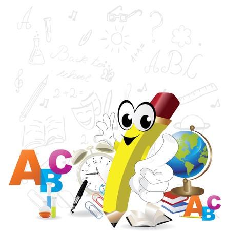 eraser: Back to School Design   Illustration
