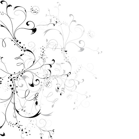 scroll up: floral element