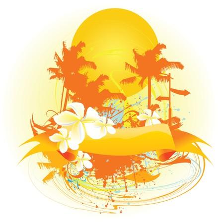 Palms banner, vector Stock Vector - 7624544