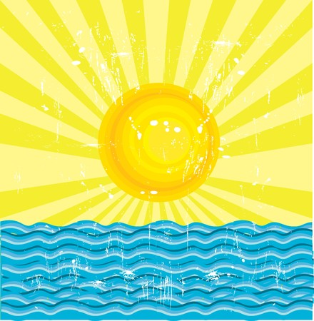 The Sun And The Sea  Stock Vector - 7624461