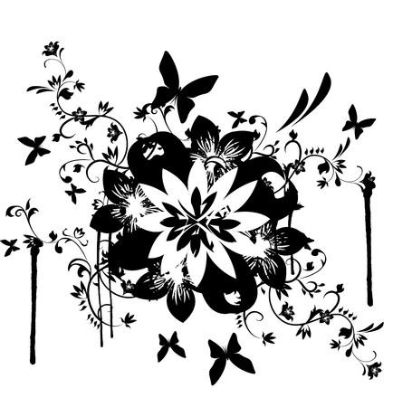 floral design element Stock Vector - 7624429