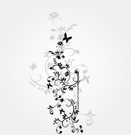 single flower: vector flower pattern on white background