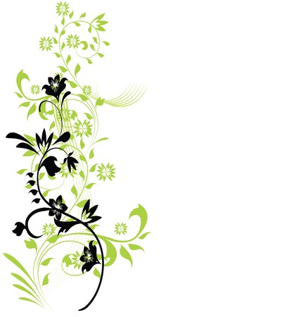 scroll border: abstract floral background with place for your text  Illustration