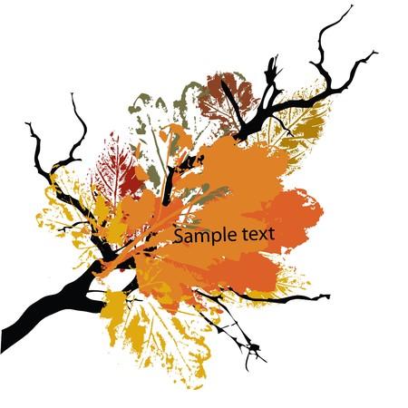 eroded: autumn grunge background