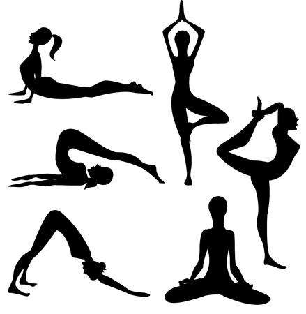 niyama: Yoga silhouette