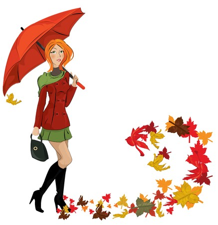 autumn woman: autumn