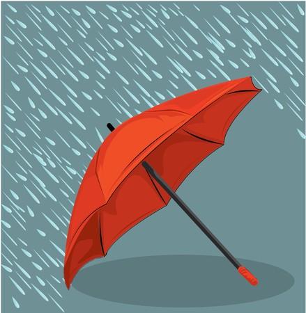 temp�te: dans le cadre de la pluie  Illustration