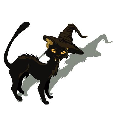 Black cat for Halloween design.  illustration.  Vector