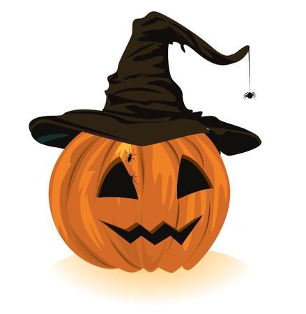 pumpkin in the hat  Vector