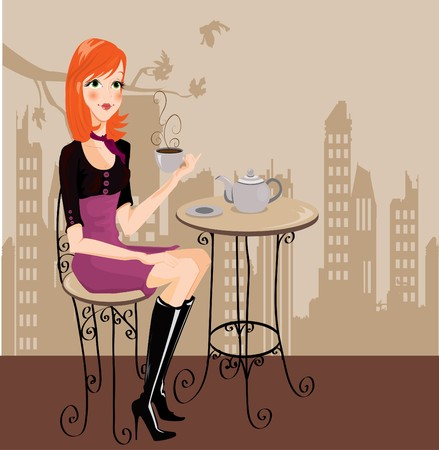 beauty shop: irl drinking coffee