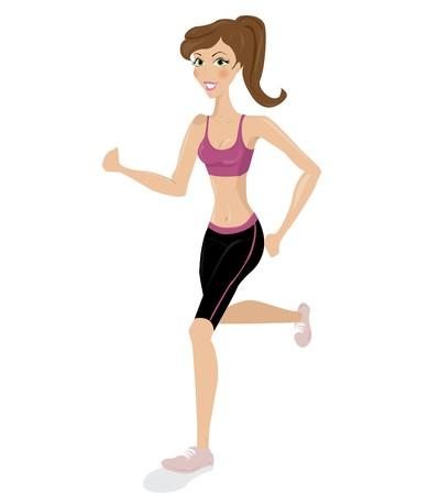 gimnasia aerobica: Mujer en ejecuci�n