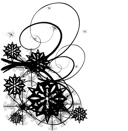 Black and white christmas background.