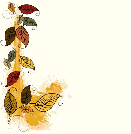 border line: Autumn leaves background