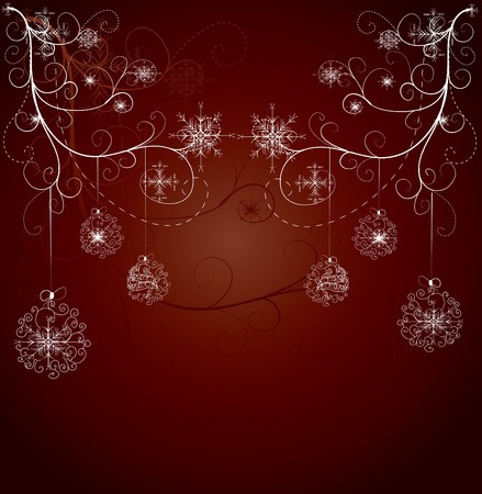 Red xmas card  Vector