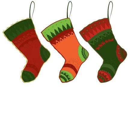christmas sock: Natale calza  Vettoriali