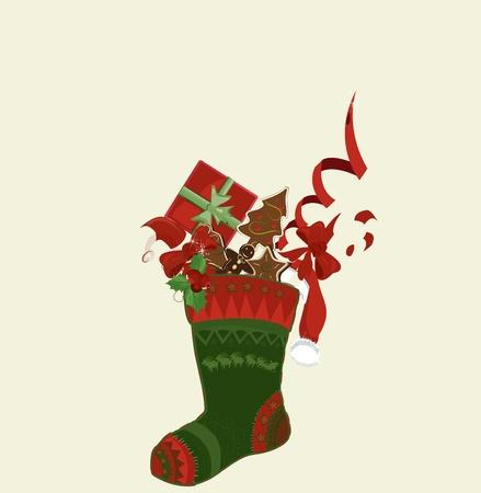 white stockings: christmas sock