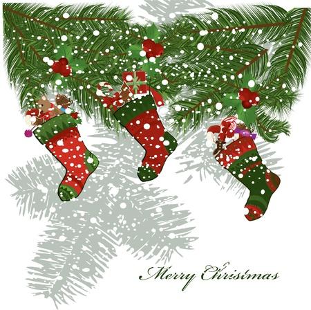illustration of christmas socks  Vector