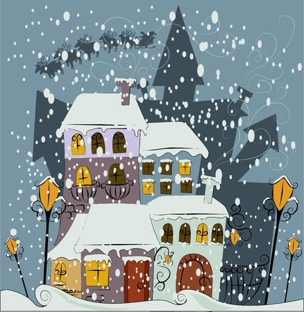 villages: Santa Claus comes to city  Illustration