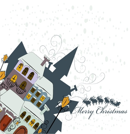Santa Claus comes to city Vector