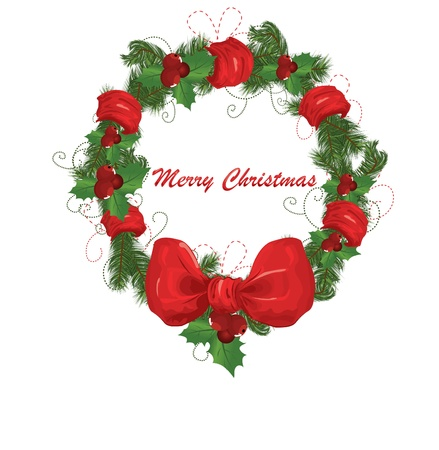 Christmas garland vector image Stock Vector - 8345674