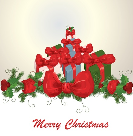 Christmas gifts vector image Stock Vector - 8345663