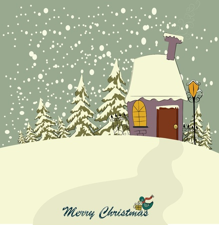 hause: Vector Christmas background