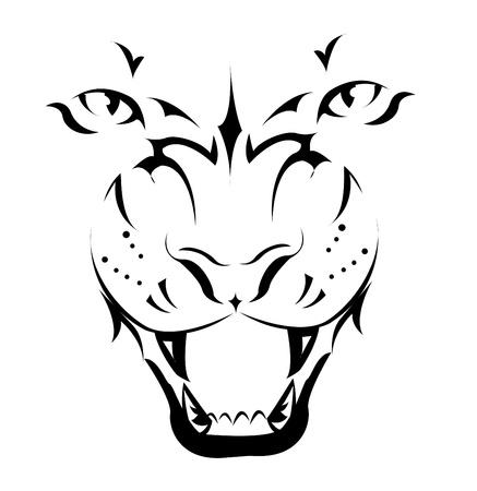 Tiger, Tattoo  Stock Vector - 8345590